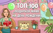 ТОП-100 лучших подарков маме на день рождения