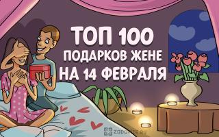 ТОП-100 лучших подарков жене на 14 февраля в 2021 году 💕
