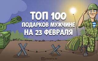 ТОП-100 лучших подарков мужчине на 23 февраля в 2020 году