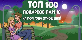 ТОП-100 лучших подарков парню на полгода отношений