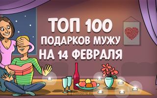 ТОП-100 лучших подарков для мужа на 14 февраля в 2021 году 💕