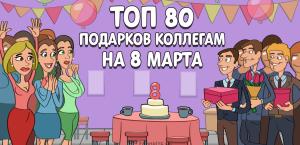 ТОП-80 лучших подарков коллегам на 8 марта в 2020 году