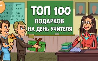 ТОП-100 лучших подарков на День учителя