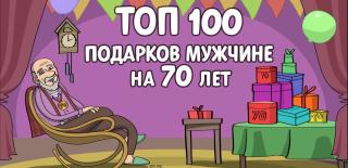 ТОП-100 лучших подарков мужчине на 70 лет
