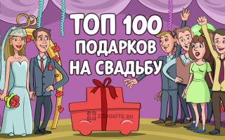 ТОП-100 лучших подарков молодоженам на свадьбу