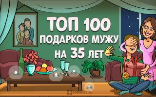 ТОП-100 лучших подарков мужу на 35 лет