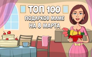 ТОП-100 лучших подарков маме на 8 марта в 2021 году