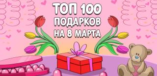 ТОП-100 лучших подарков для женщин на 8 марта в 2020 году