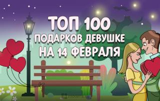 ТОП-100 лучших подарков для девушки на 14 февраля в 2020 году 💕