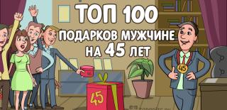 ТОП-100 лучших подарков мужчине на 45 лет