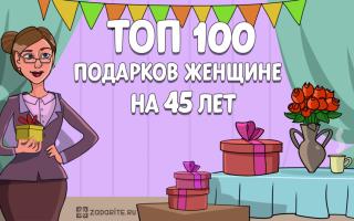 ТОП-100 лучших подарков женщине на 45 лет