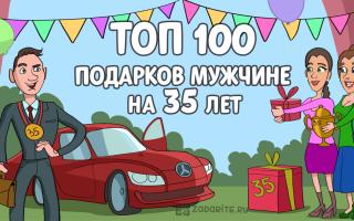 ТОП-100 лучших подарков мужчине на 35 лет