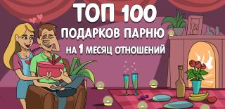 ТОП-100 лучших подарков парню на 1 месяц отношений