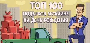 ТОП-100 лучших подарков мужчине на день рождения