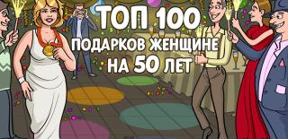 ТОП-100 лучших подарков женщине на 50 лет