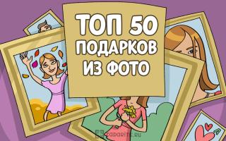 ТОП-50 лучших подарков из фотографий
