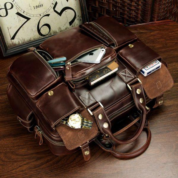 Мужской портфель кожаный