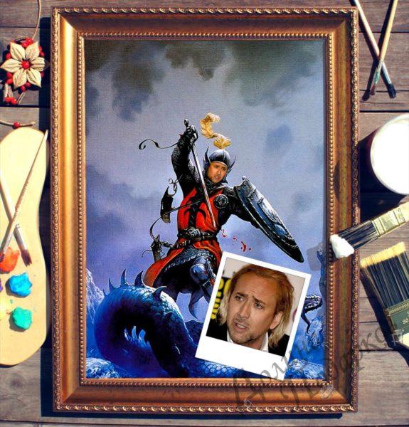 Портрет по фото «Рыцарь - победитель драконов»