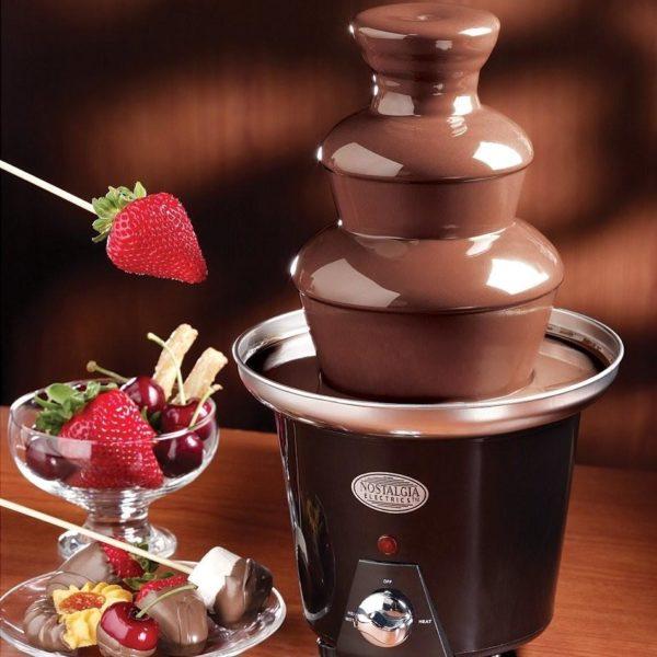 Домашний шоколадный фонтан