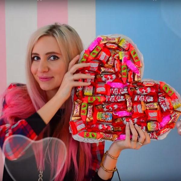 Сердце из шоколадок