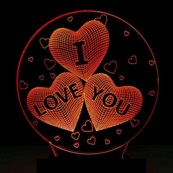 3D Лампа «I Love You»