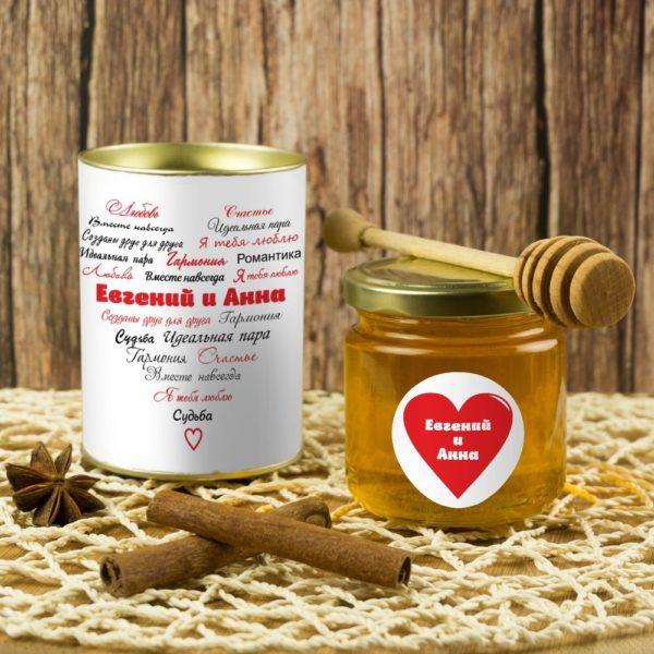 Именной подарочный мед «Вместе навсегда»