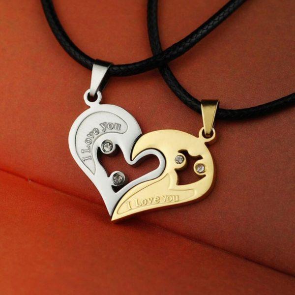 Подвеска «две половинка сердца»