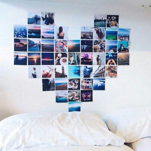 Сердце на стене из фото