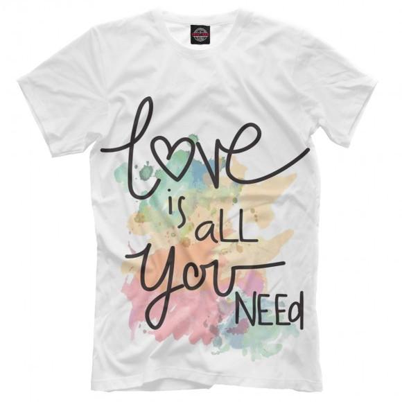 Поло или футболка со стильным Love-принтом