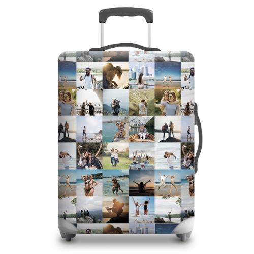Чехол на чемодан с фото и именем
