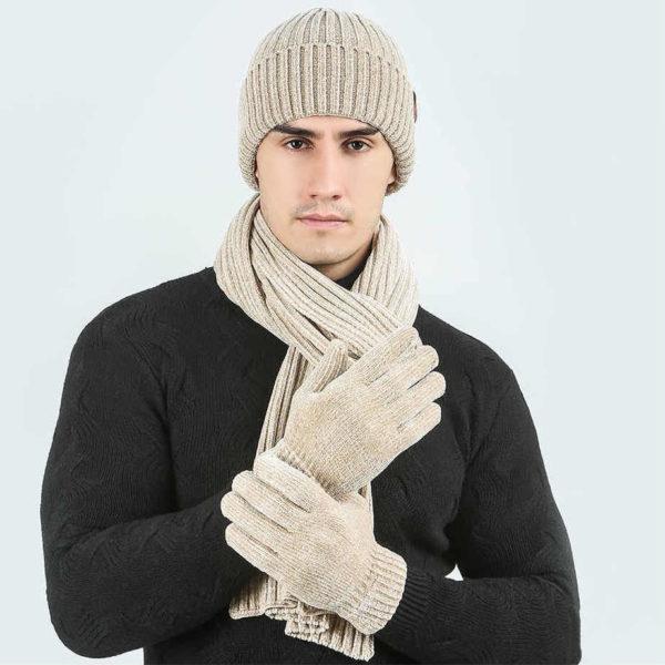 Набор - шарф и перчатки