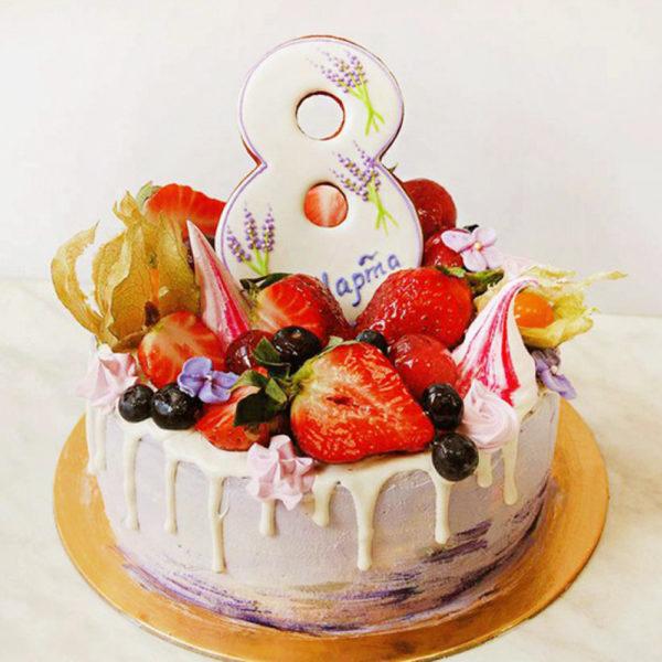 Тематический торт «8 марта»