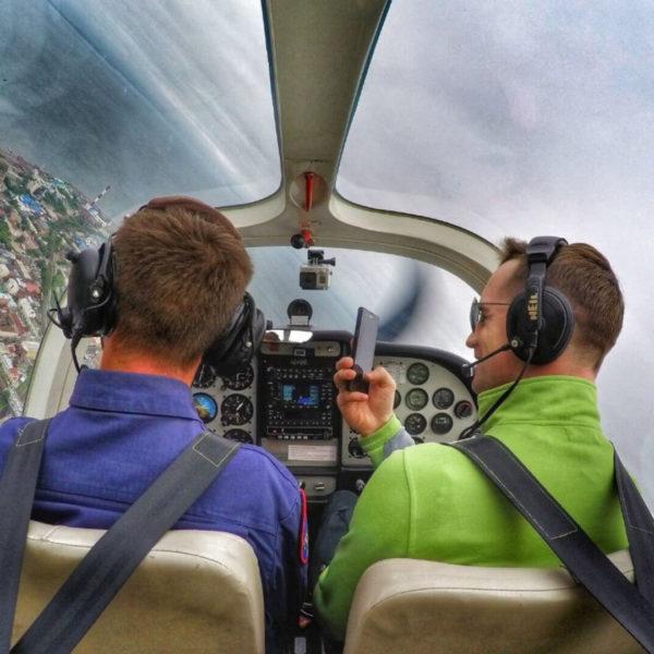Полет за штурвалом самолета или вертолета