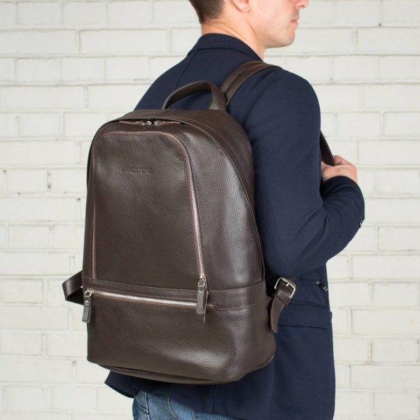 Кожаный рюкзак или портфель