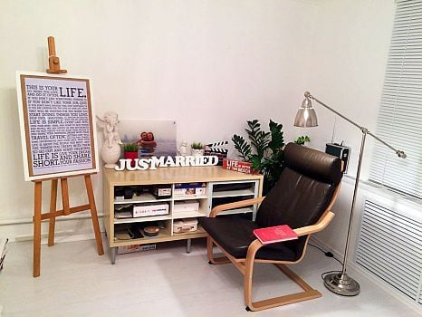 Надпись из дерева «Just Married»