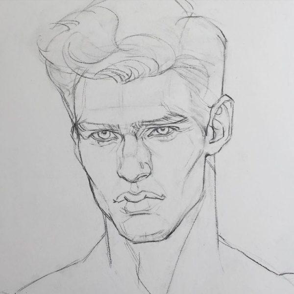 Нарисовать его портрет