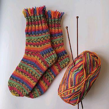 Вязанные носки или шарф своими руками