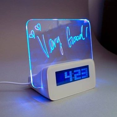 Часы со светящейся доской для записей